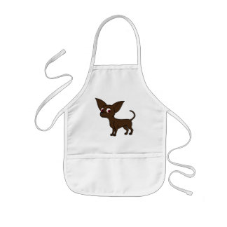 Chocolate Chihuahua with Short Hair Kids' Apron