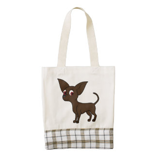 Chocolate Chihuahua with Short Hair Zazzle HEART Tote Bag