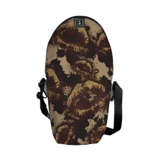 Chocolate Chip Abstract Lips Courier Bag