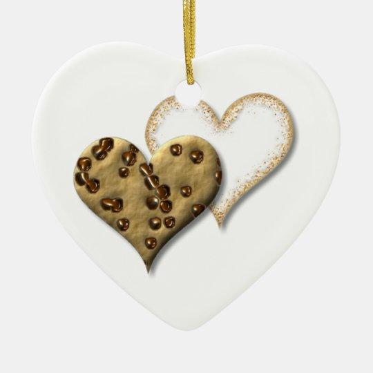 Chocolate Chip and Sugar Cookies Ceramic Ornament