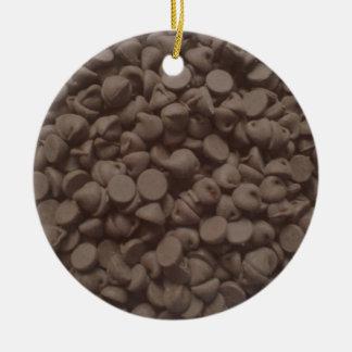 Chocolate chip ceramic ornament