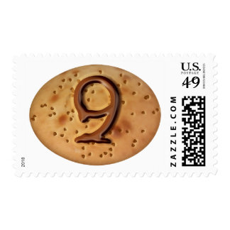 Chocolate chip cookie 3d effect illustration postage