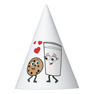 Chocolate Chip Cookie and Milk Happy Birthday Party Hat