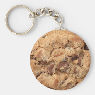 chocolate chip cookie basic round button keychain