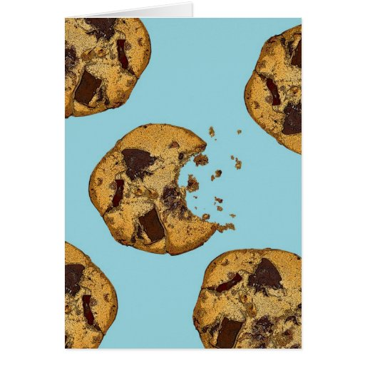 Chocolate Chip Cookie Cards