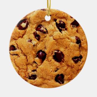 Chocolate Chip Cookie Ceramic Ornament