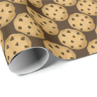 Chocolate chip cookie Chistmas wrapping paper