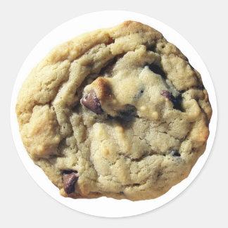 Chocolate Chip Cookie Classic Round Sticker