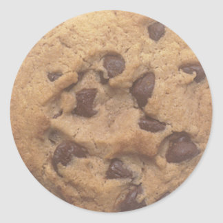 Chocolate Chip Cookie Classic Round Sticker