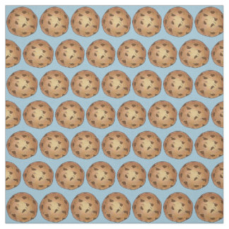 Chocolate Chip Cookie Cookies Blue Fabric