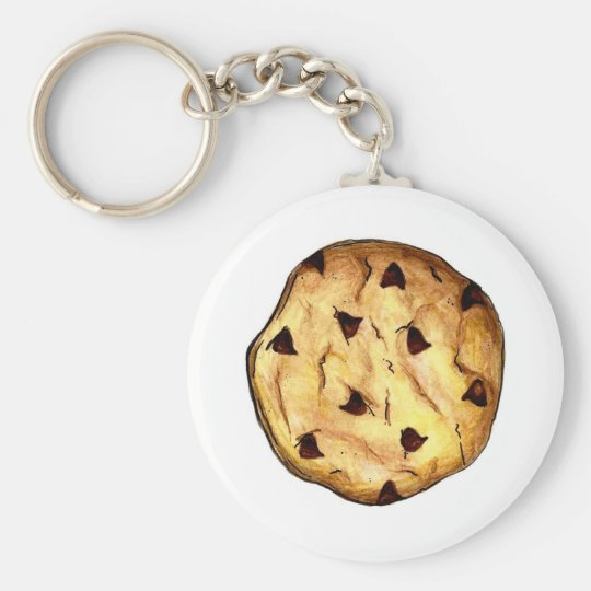 Chocolate Chip Cookie Cookies Foodie Keychain