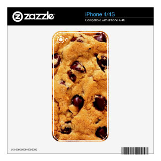 chocolate chip cookie decal for iPhone 4