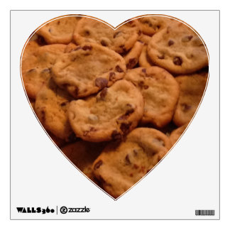 Chocolate Chip Cookie Heart Decal