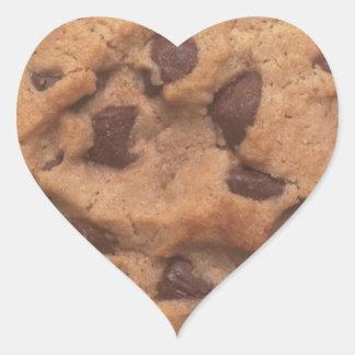 Chocolate Chip Cookie Heart Sticker