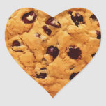 Chocolate Chip Cookie Heart Stickers