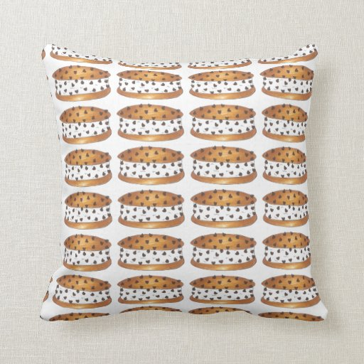Chocolate Chip Cookie Ice Cream Sandwich Pillow Zazzle