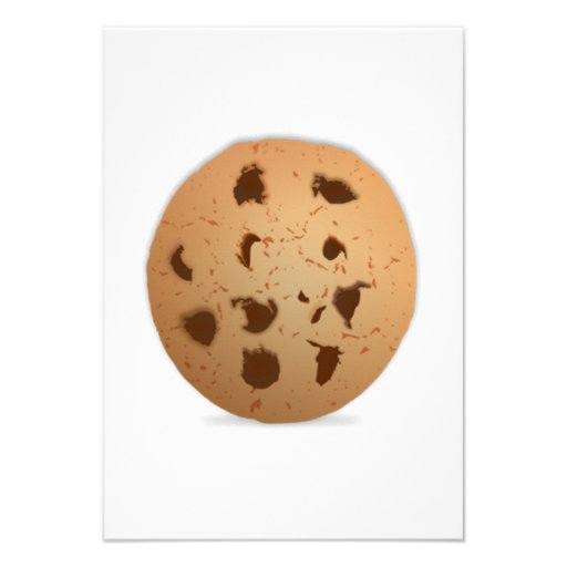 Chocolate Chip Cookie Personalized Invites