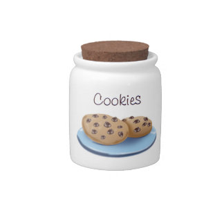 Chocolate Chip Cookie Jar Candy Dish
