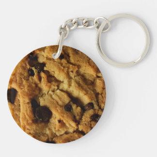Chocolate chip cookie key chain