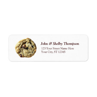 Chocolate Chip Cookie Label