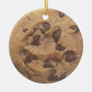 Chocolate chip cookie christmas tree ornament
