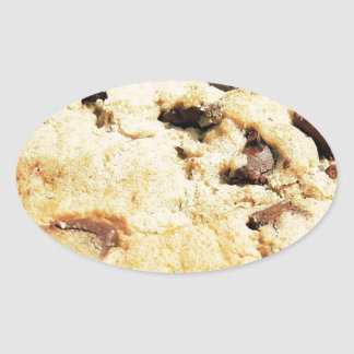 Chocolate Chip Cookie Oval Sticker
