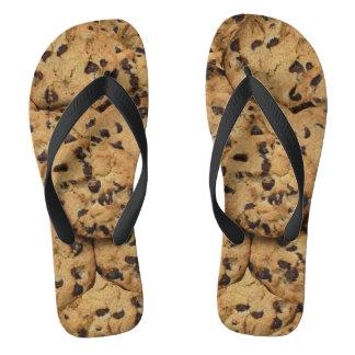 Chocolate Chip Cookie Pattern Flip Flops