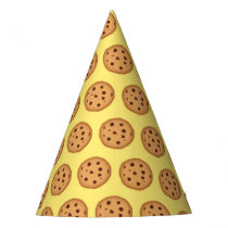Chocolate Chip Cookie Pattern Party Hat