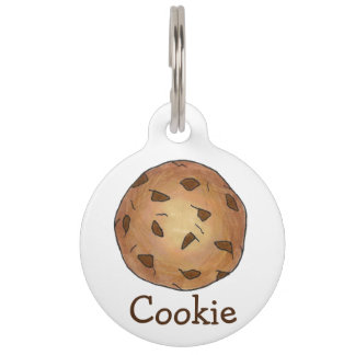 Chocolate Chip Cookie Personalized Baked Goods Pet ID Tag