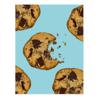 Chocolate Chip Cookie Postcard