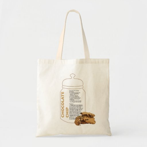 Chocolate Chip Cookie Recipe Canvas Bags