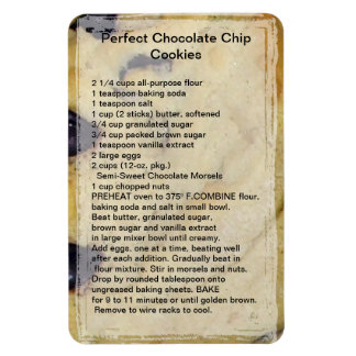 Chocolate Chip Cookie Recipe Magnet