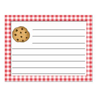 Chocolate Chip Cookie Recipe Postcard