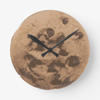 Chocolate Chip Cookie Round Clock