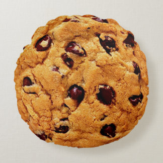 Chocolate Chip Cookie Round Pillow