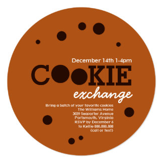 Chocolate Chip Cookie Swap Exchange Party Card