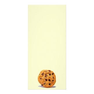 CHOCOLATE CHIP COOKIE TREAT DESSERT SNACK DIGITAL RACK CARD DESIGN