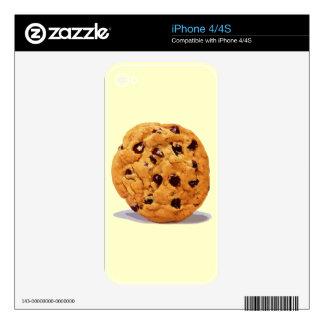 CHOCOLATE CHIP COOKIE TREAT DESSERT SNACK DIGITAL iPhone 4 DECAL