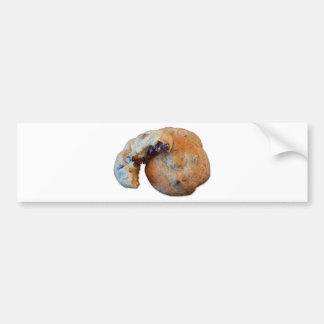 Chocolate Chip Cookie (w/ white background) Bumper Sticker