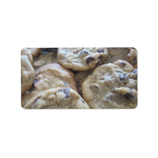 Chocolate Chip Cookies Address Label
