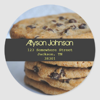 Chocolate Chip Cookies Address Labels
