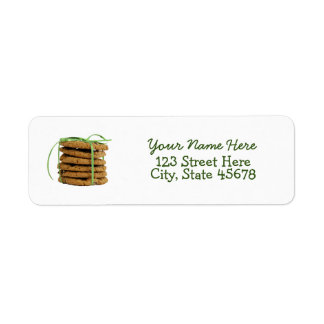 Chocolate Chip Cookies and Green Ribbon Label
