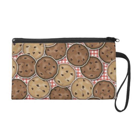 Chocolate Chip Cookies Wristlet Purse