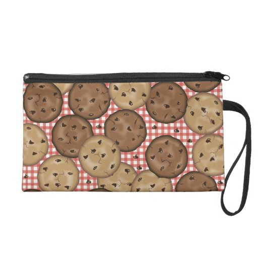 Chocolate Chip Cookies Wristlet Clutch