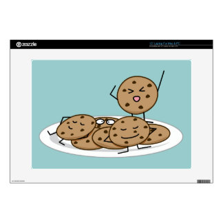 Chocolate Chip Cookies baked plate dessert Laptop Decal