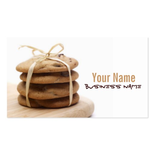 Chocolate Chip Cookies Business Cards (front side)