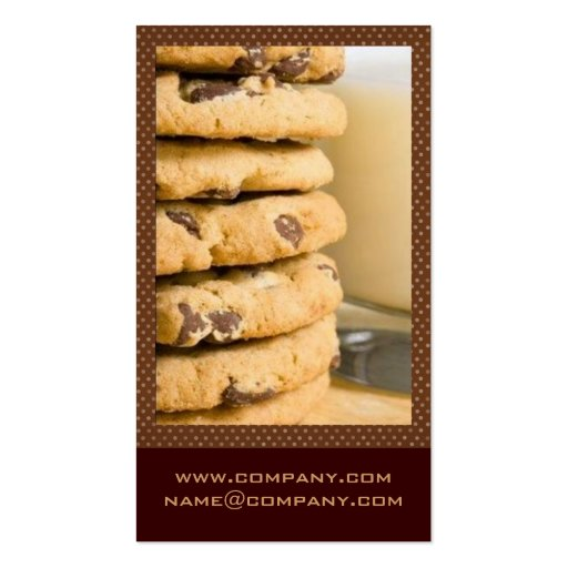 Chocolate Chip Cookies Business Cards (back side)