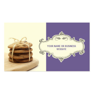 Chocolate Chip Cookies Business Cards {Violet}