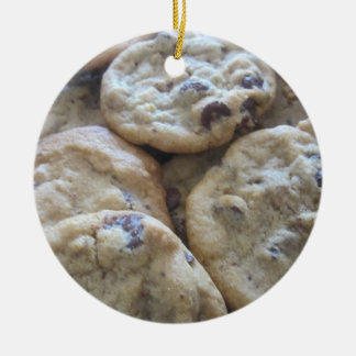 Chocolate Chip Cookies Ceramic Ornament
