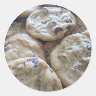 Chocolate Chip Cookies Classic Round Sticker